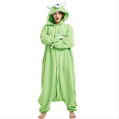 AYJMA Pijamas de Dibujos Animados para Adultos Mujeres Onesie Cosplay Disfraz Kigurumi Monstruo Hombres Halloween Carnaval Fiesta Mono M Alien Onesie
