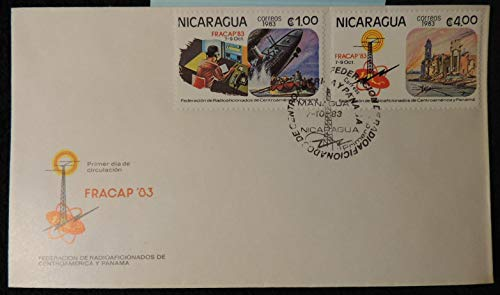 Nicaragua FDC 1983 FRACAP '83 federation of radio amateurs titanic good used first day cover communications ships disasters JandRStamps 144064