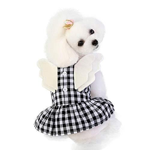 Ropa De Perro Abrigo Chaqueta Ropa Divertida para Perros, Ropa para Cachorros, Chihuahua, para Perros Pequeos Y Medianos, Disfraz con Alas, Camisa A Cuadros para Perros, S Ne