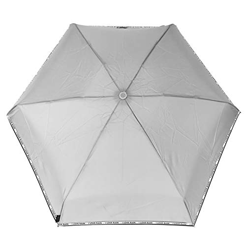 SMATI Taschenschirm sturmfest - Stabil - kompakte -Regenschirm Winddicht (I Love RAIN)