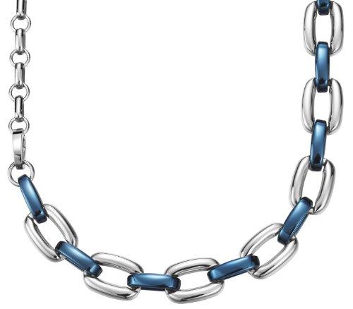 Esprit Unisex Halskette Edelstahl rhodiniert Marin blue 85 cm ESNL11842C850