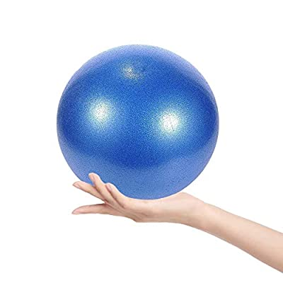 Goonidy Mini Exercise Ball - 9Inch Samll Bender Ball for Stability, Barre, Pilates, Yoga, Core Training and Physical Therapy, Exercise Equipment for Back Inner Thigh and Balanced Body (Blue)