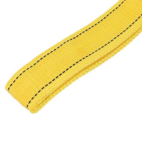 Demeras Cuerda de remolque de 8 toneladas de remolque de coche en forma de U ganchos de alta resistencia cuerda de torno para columpios para navegar para escalar (amarillo)