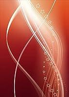 igsticker ポスター ウォールステッカー シール式ステッカー 飾り 1030×1456㎜ B0 写真 フォト 壁 インテリア おしゃれ 剥がせる wall sticker poster 001899 ラブリー クール 星 シンプル 赤