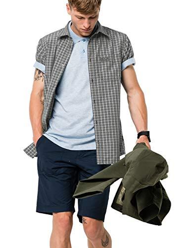 Jack Wolfskin Herren EL Dorado Shirt Men Schnelltrocknendes Outdoor Hemd Kurzarm, Phantom Checks, XXL