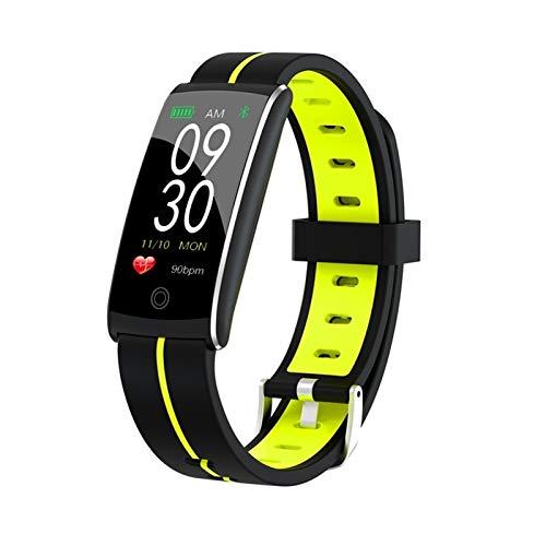 LYB Pulsera de fitness a la moda, banda de presión arterial, impermeable, monitor de ritmo cardíaco, pulsera inteligente (color verde)