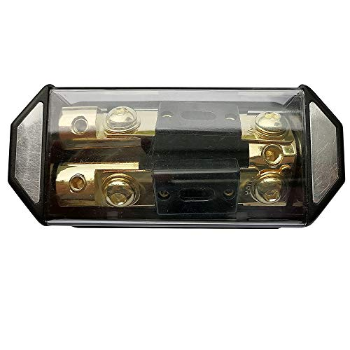 in-LINE ANL Fuse Holder 2 Way with Fuse 1X0GA-2X4GA Distribution Block Stereo/Audio/CAR
