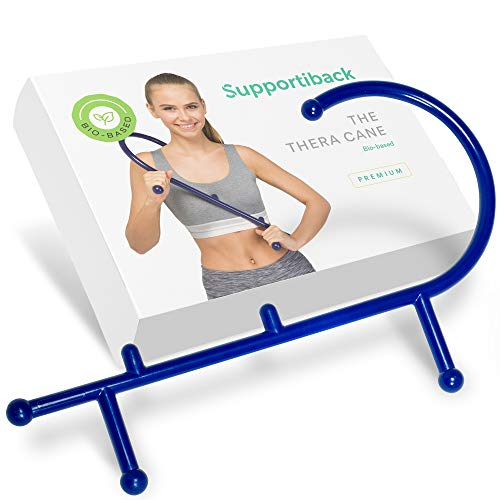 Supportiback® Instrument orthopédique pour se masser soi-même pour un soulagement immédiat des douleurs du dos et des contractions musculaires - ergonomique - Médicalement certifié