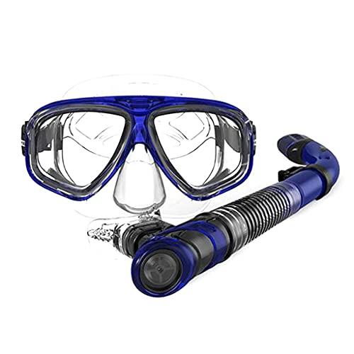 AWJ Máscaras de Buceo Equipo de Buceo Profesional Impermeable a Prueba de Agua para Adultos 3 Colores de máscaras de natación.Máscaras de Alta definición (Color: Amarillo)