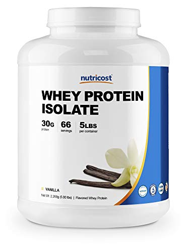 Nutricost Whey Protein Isolate Powder Vanilla 5LBS