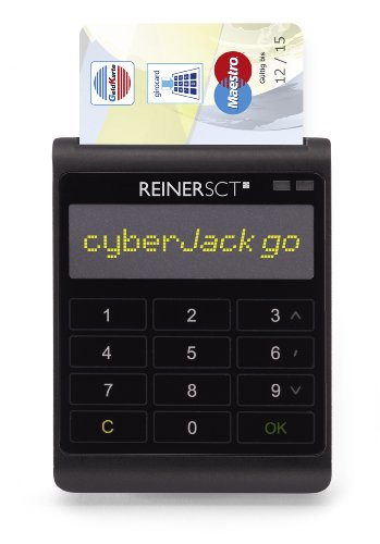 REINER SCT cyberJack go Innovativer Chipkartenleser mit Massenspeicher OLED Display Soft TouchTastatur Sichere PIN Eingabe
