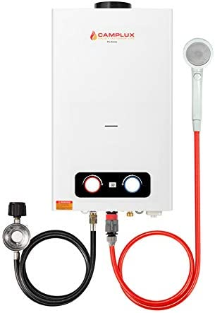 Camplux 2 64 GPM Tankless Propane Water Heater Outdoor Portable Gas Water Heater with Overheating product image