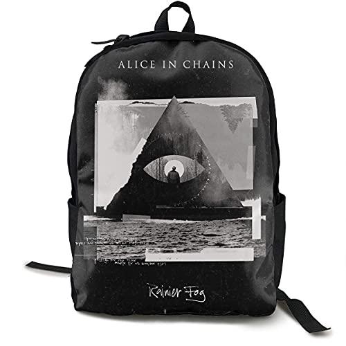 RTUBNSD Mochilas tipo casual Mochila ultraligera para computadora portátil para estudiantes, bolsa de ocio de viaje, mochila clásica para senderismo, gimnasio Alice In Chains Dirt