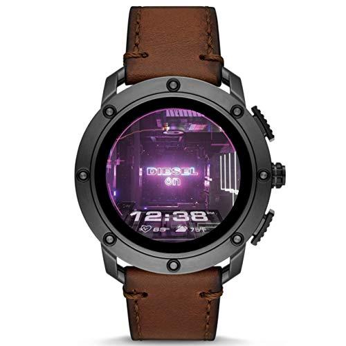 Diesel Reloj Analógico para de los Hombres de Pantalla táctil con Correa en Cuero DZT2032