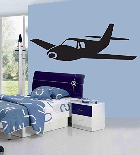 Plane Wall Decal Prop Charter Jet vechter vliegtuig Woonkamer Slaapkamer muur kunst decal Jongen en Baby Kwekerij Decal 64