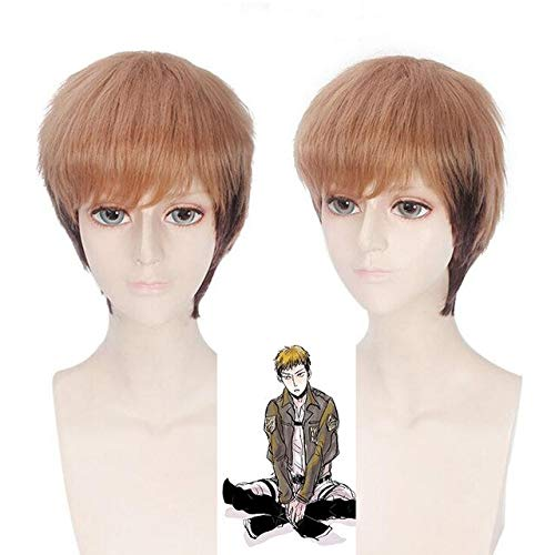 Anime Attack on Titan Jean Kirstein cosplay wig for Halloween party Synthetic hair mixed color Cosplay Jean Kirstein short Wigs One Size Jean wig PL-266