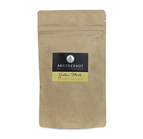 Ankerkraut Golden Milk, Kurkuma Gewürzmischung für Milch, Kaffee-Latte, Porridge und Haferbrei, 150g im aromadichten Beutel