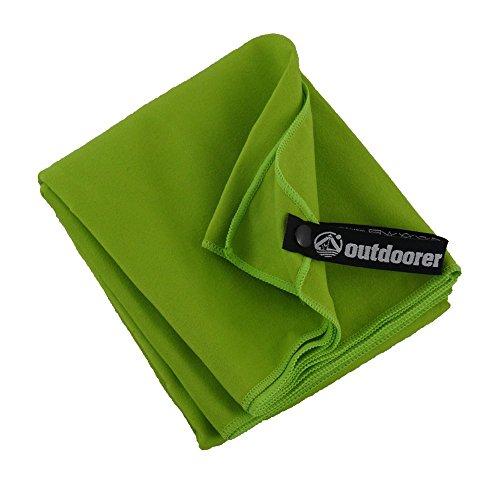 outdoorer PackDRY Reisehandtuch, schnelltrocknend, Ultraleicht, kleines Packmaß - das Mikrofaser Handtuch (M)