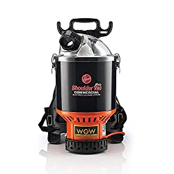 Premium Pick for Best Commercial Vacuum: Hoover Commercial Lightweight Black Backpack Vacuum