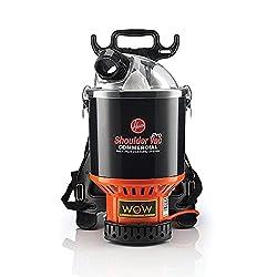 Premium Pick for Best Commercial Vacuum: Hoover Commercial Lightweight Black Backpack Vacuum
