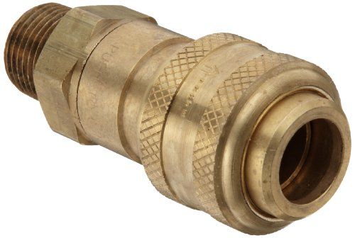 """Dixon DCB9 Brass Air Chief Industrial Interchange Quick-Connect Air Hose Fitting, 1/2"""" Coupling x 1/2"""" NPT Male"""