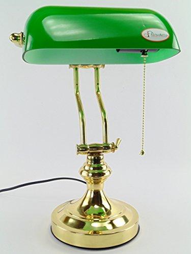 fd-bolletta arredamento e illuminazione lampada ministeriale churchill,lampada ottone catenella da scrivania vetro verde lm5 Misure:H 38cm,L 26cm,Ø base 15cm,profondità 17cm