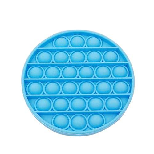 Juguete Redondo Push Pop Pop Bubble Juguete Sensorial Juguete Sensorial Apretón De Silicona para Aliviar El Estrés Y La Ansiedad del Autismo