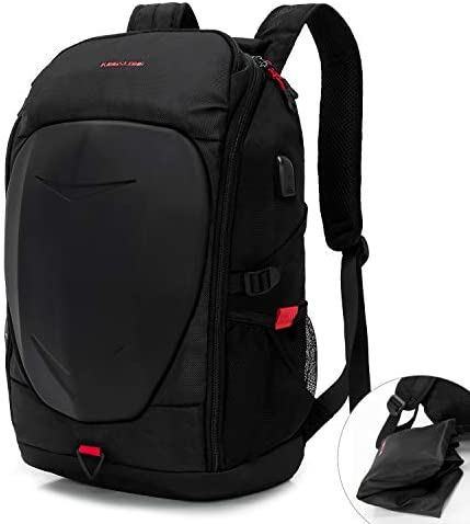 KINGSLONG 15 17 Inch Mens Laptop Backpack with USB Port for Travel Gaming Motorcycle Outdoor product image