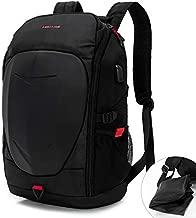 KINGSLONG 15-17 Inch Mens Laptop Backpack with USB Port for Travel Gaming Motorcycle Outdoor Backpacks Waterproof, Black