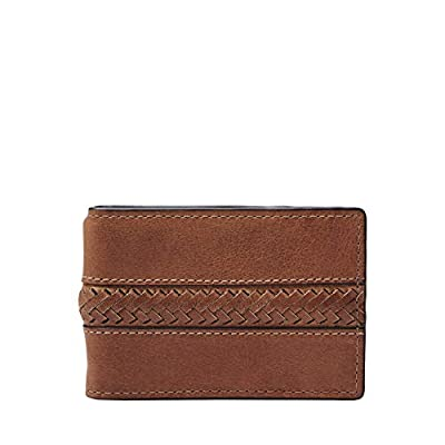 Fossil Men's Francis Leather Money Clip Bifold Wallet