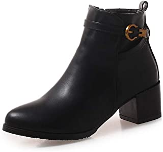 BalaMasa Womens ABS13982 Leather Boots
