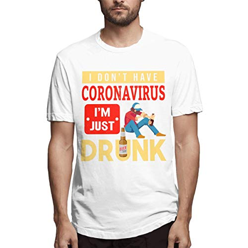I Don't Have Coronavirus Playera de manga corta para hombre Blanco blanco 3XL