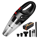 Handheld Vacuum Cordless, Rechargeable Car Vacuum Cordless Cleaner Wet Dry Powerful Portable Hand Vacuum Light Weight for Pet Hair, Home, and Car Cleaning