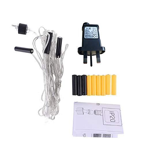 YOURPAI Adaptador de voltaje, batería AA AAA, adaptador de fuente de alimentación del Reino Unido para reemplazar 2 x 3 pilas AA para luz LED
