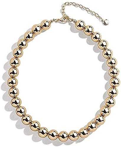 Collar, diseño de Collar, Color Dorado, Cadena de Perlas, Gargantilla, Collar para Mujer, Hip Hop, exageración, Gargantilla Grande y Gruesa, joyería de Mujer para Mujer, Hombre, Regalo