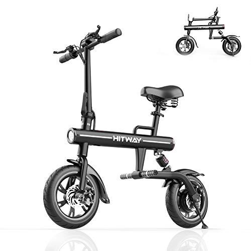 MARKBOARD Bicicletta elettrica pieghevole in alluminio e-bike con pneumatici da 12 'con batteria da 7,5 Ah e motore da 250 W per una portata massima di 45 km Display a LED per adulti e giovani