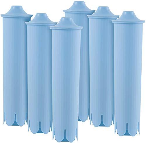 6 cartuchos de filtro de repuesto   Compatible con Jura Blue   Set Aquali