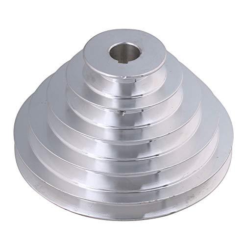 20mm Bohrung 54mm-150mm Außendurchmesser Aluminium 5 Schlitz A Typ V-förmige Pagode Riemenscheibe 5 Schritt Riemenscheibe Gürtel 12,7 mm Gurtbreite