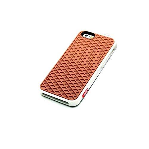 Carcasa para iPhone 7 y 8, suela de zapatilla, marrón y blanco