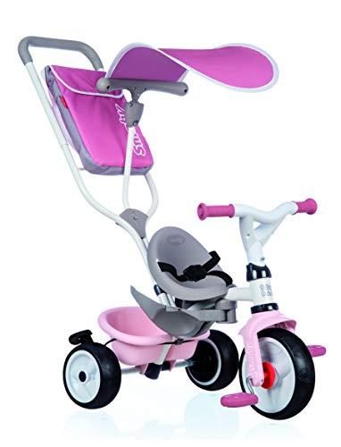 Smoby- Triciclo Baby Balade Rosa (741401), Color
