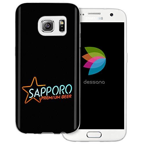 dessana Japan Sightseeing - Cover trasparente per Samsung Galaxy S7, motivo: birra Sapporo