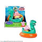 TOMY Toomies George & Dinosaurier Badeinsel, Baby-Badespielzeug, spaßiges Bade-Accessoire und...
