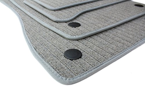 kfzpremiumteile24 Fußmatten / Velours RIPS Automatten Premium Qualität Stoffmatten 4-teilig silbergrau