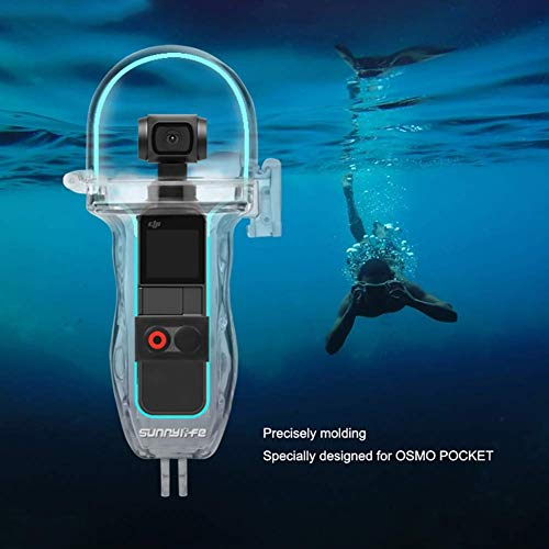 Makerfire Protective Diving Shell Housing Case for dji OSMO Pocket Gimbal Camera Waterproof Diving Shell with Hand Strap Storage Bag 2 Seals and 12 Anti-Fog Sheets Accessories