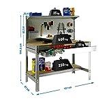 MAS VENDIDO Nº2  Banco de trabajo BT3 con cajón Simonrack 1445x1510x610