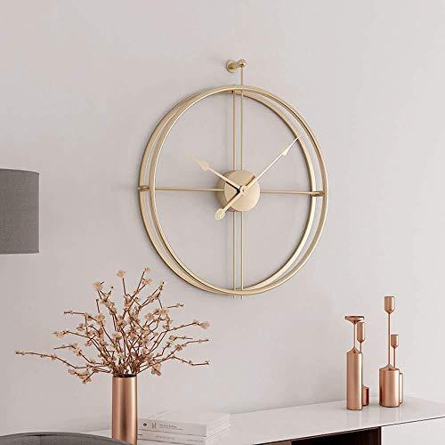 Libina Schmiedeeiserne Dekorative Wanduhr/Moderne Minimalistische Home-Bar-Restaurant Wand Hängend Stumme Wanduhr/Modernes Haus Dekorative Wohnzimmerwand-Uhr-Dekor,Gold
