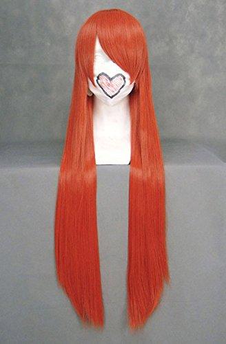 JapanAttitude Perruque Longue Orange Rouge 80cm, Cosplay Inoue Orihime