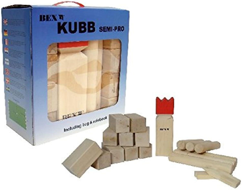 Kubb SEMI PRO, Turnier Kubb von Bex Schweden, groe standsichere Kubbs