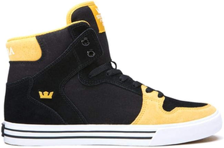 Supra Mens Vaider Black golden White shoes Size