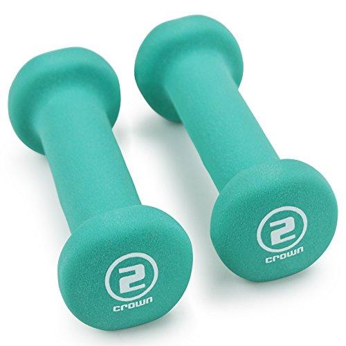 Crown Sporting Goods Pair of Neoprene Body Sculpting Hand Weights (2 LB)